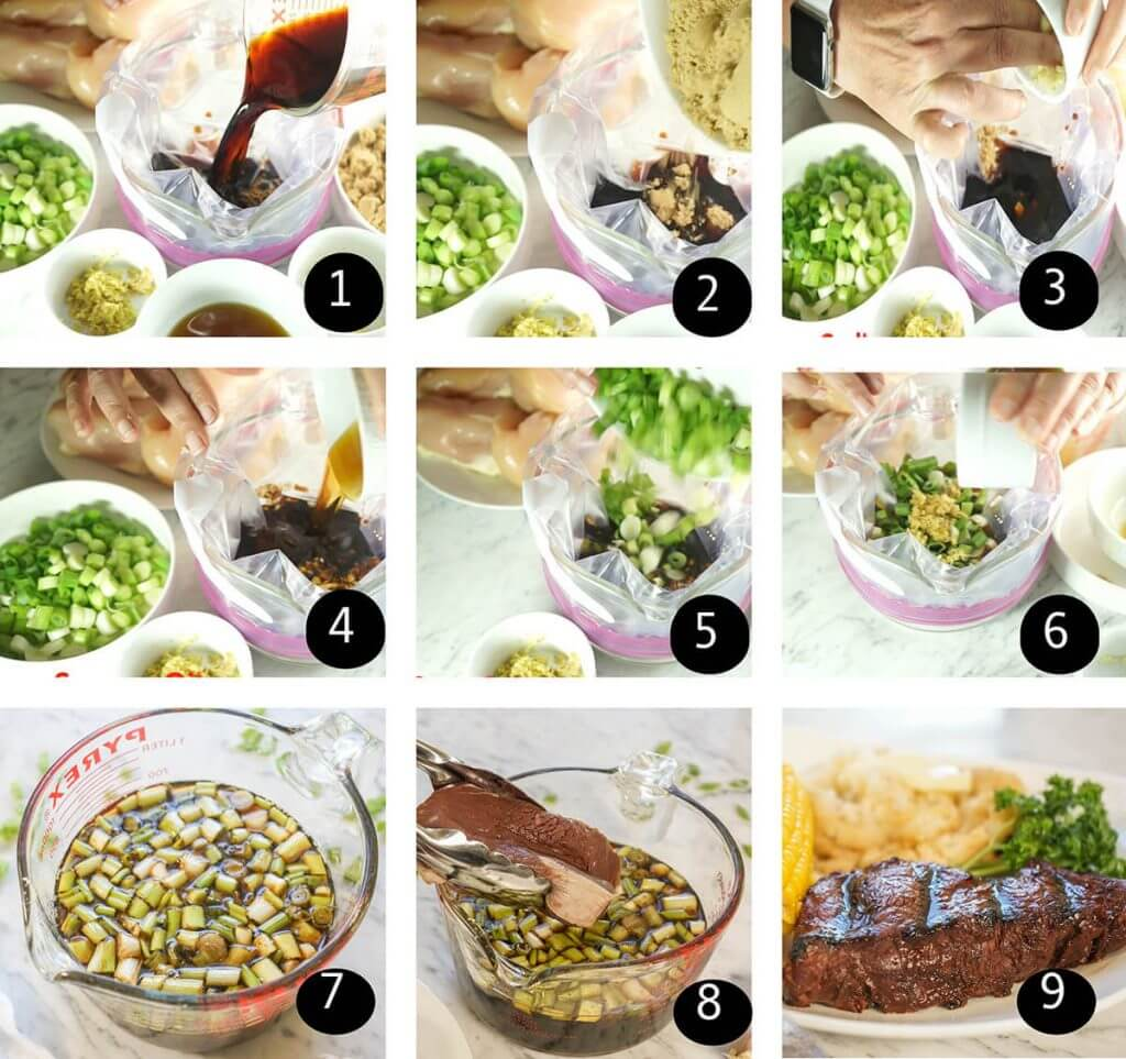 Step by step instructions to prepare the sauce.
