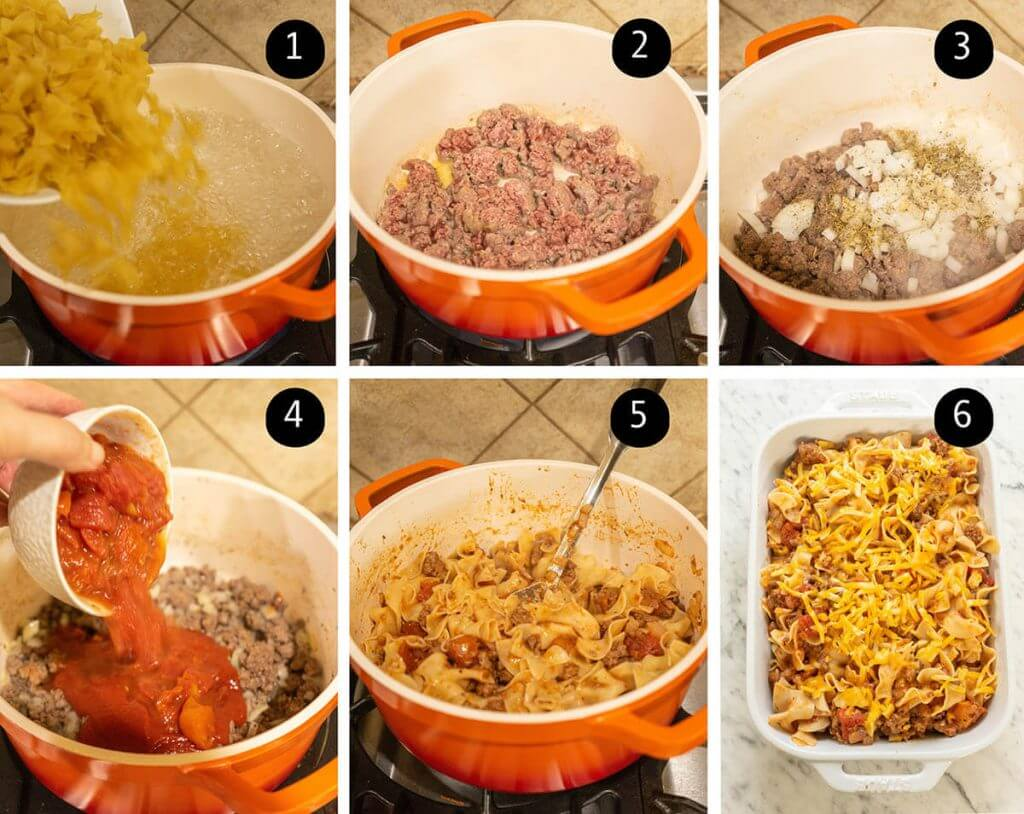 Step by step instructions to make casserole dish