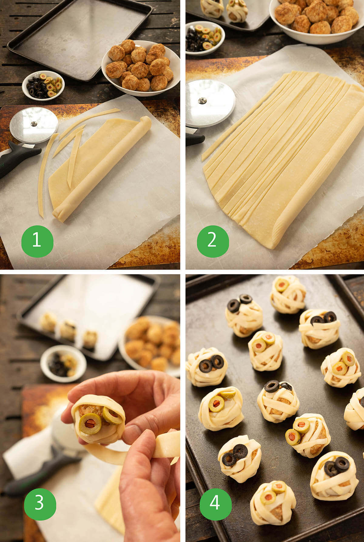 Step by step instructions to make appetizer.