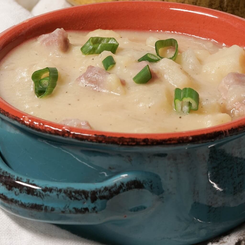 Ham and Potato Soup is quick and easy to make in your pressure cooker.