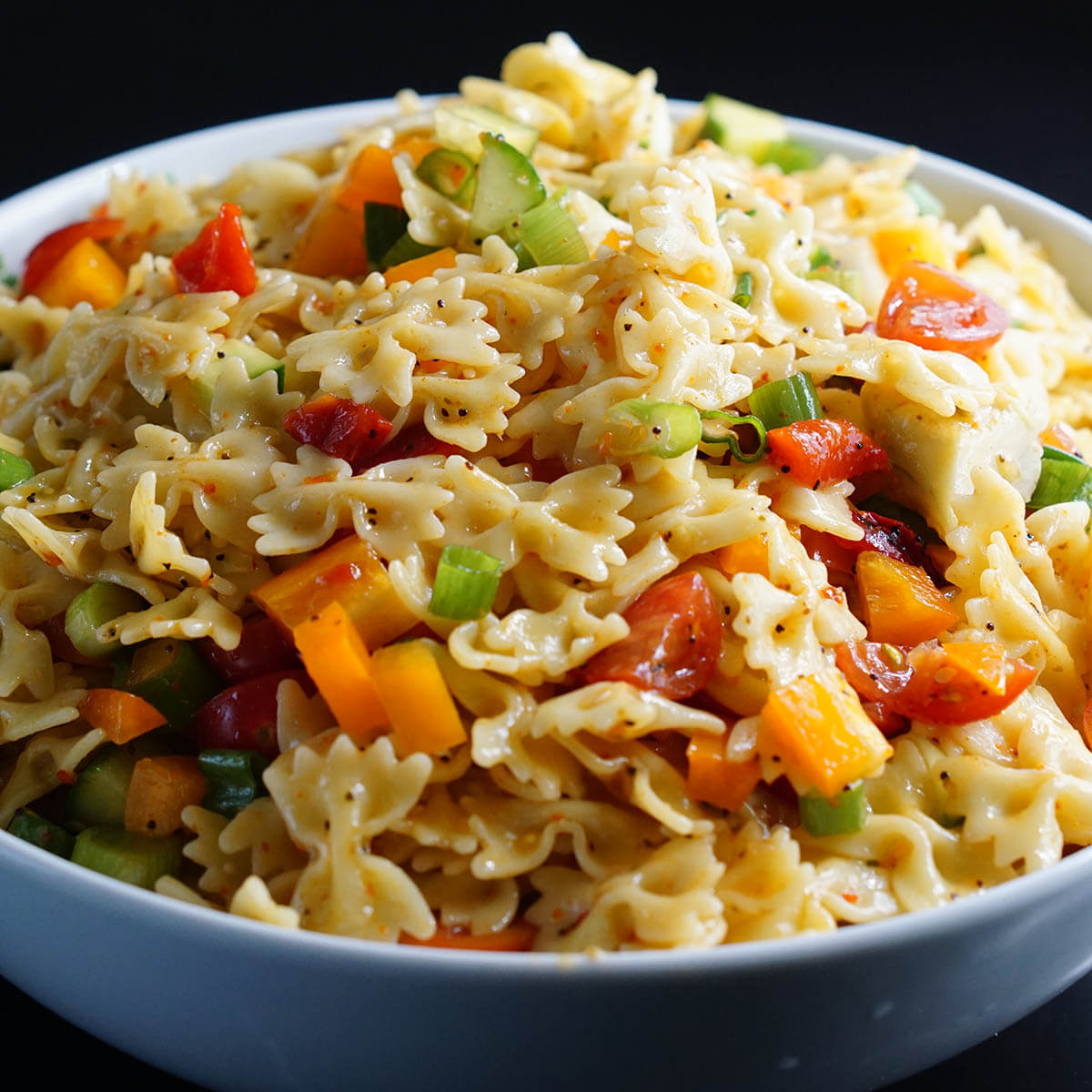 Bow Tie Pasta salad for a holiday side dish.