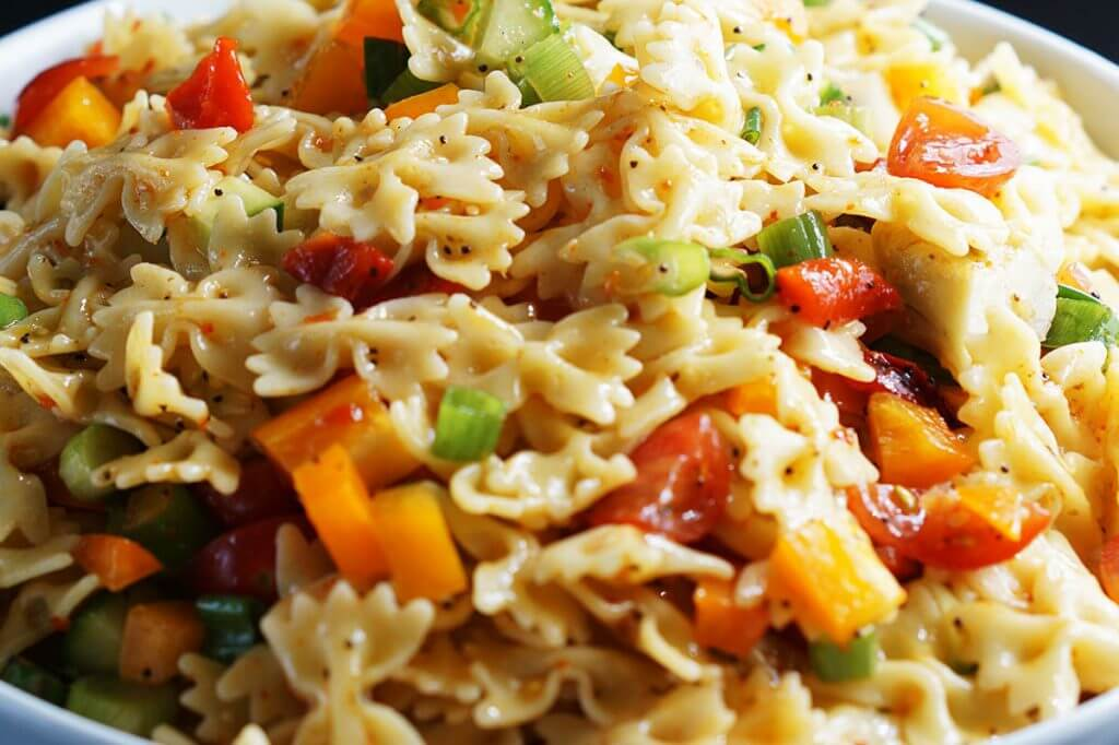 Bow Tie Pasta Salad is a great Holiday Side dish.