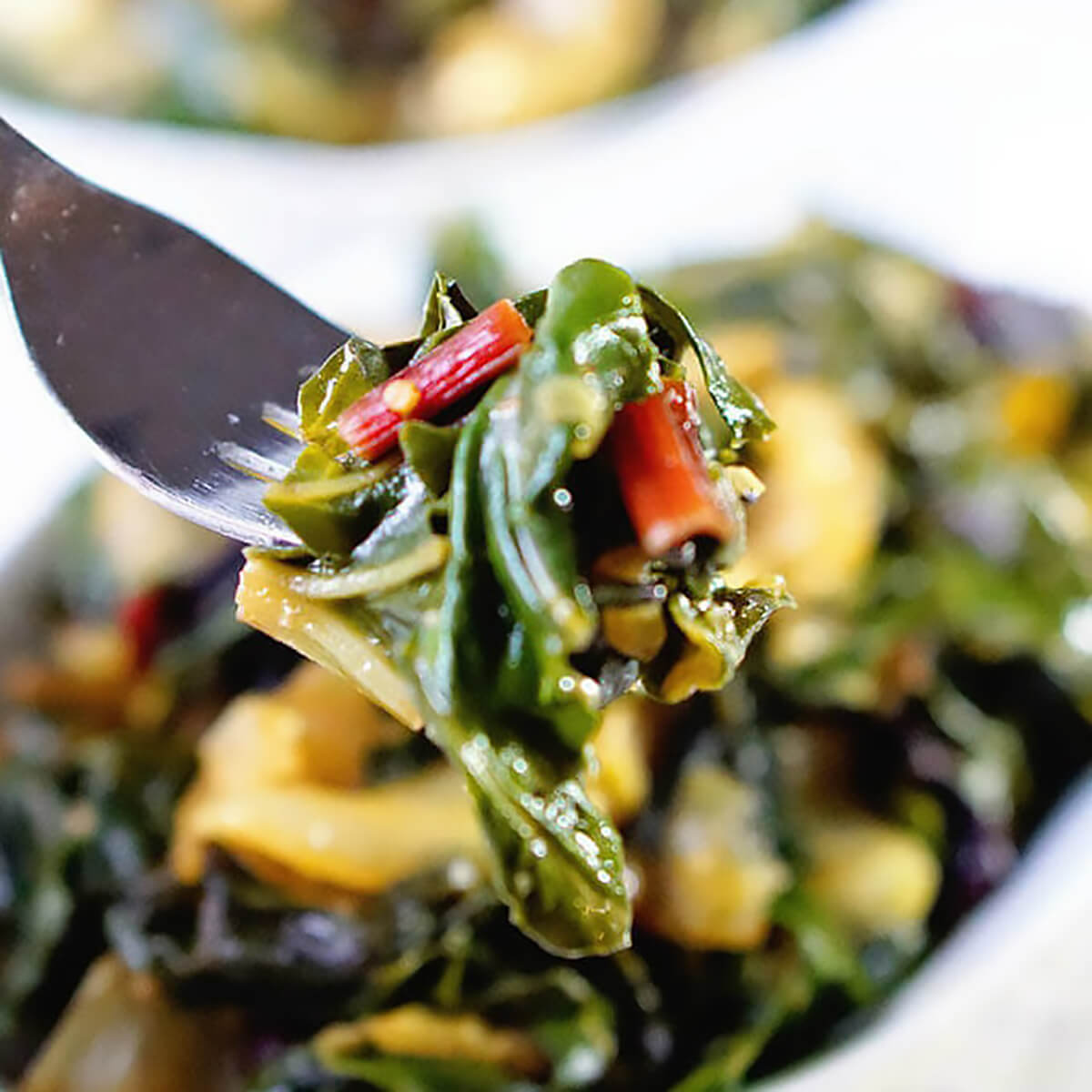 Holiday Side Dish Braised Swiss chard