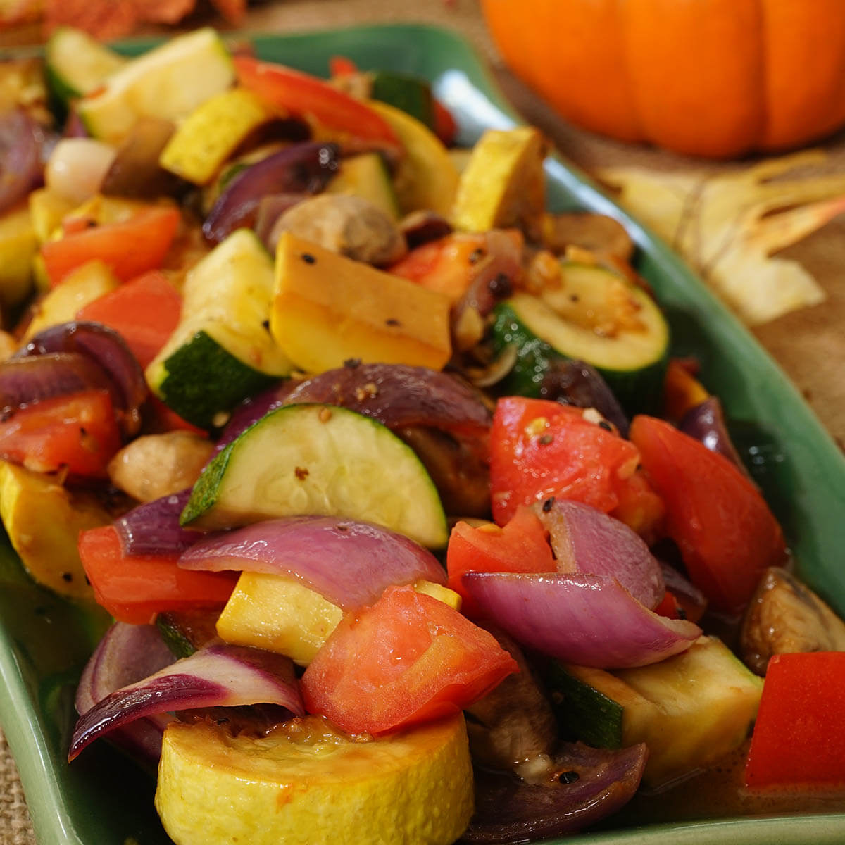 Thanksgiving Side Dish Pan Roasted Vegetables.
