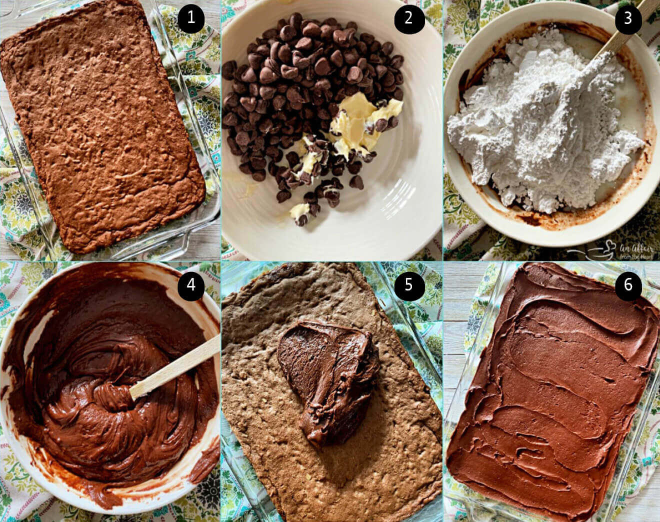 Directions to make and frost with yummy frosting.