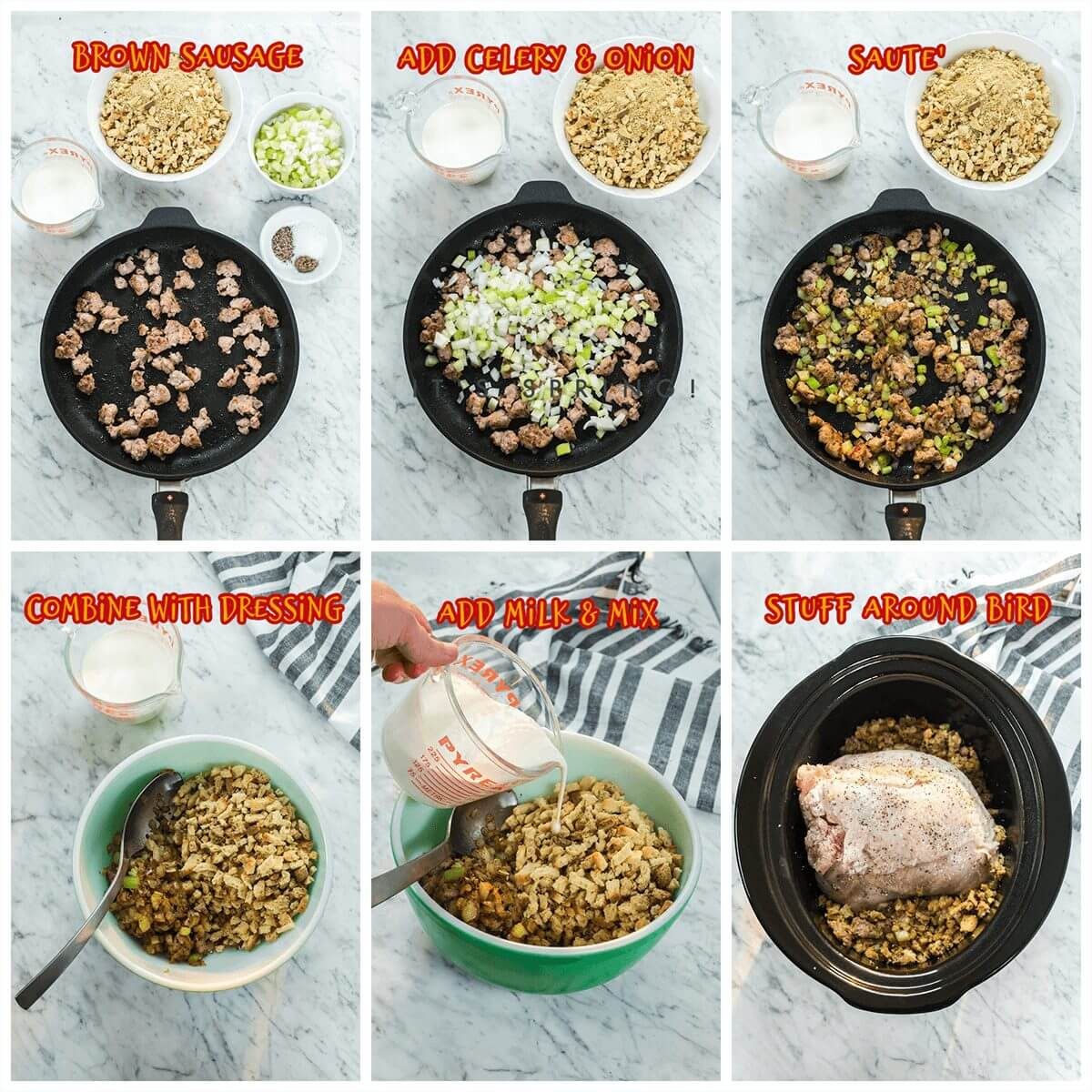 Step by step photos showing how to make this recipe.