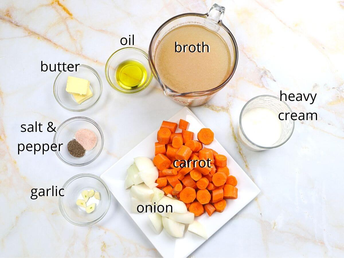 A picture showing all of the ingredients needed to make this recipe.