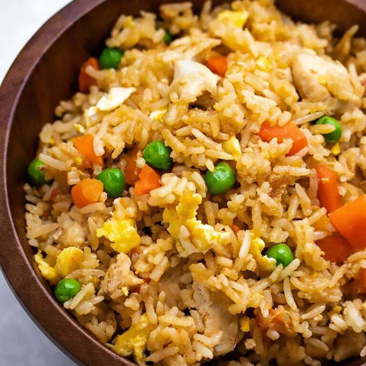 One of my favorite easy instant pot meals, chicken fried rice