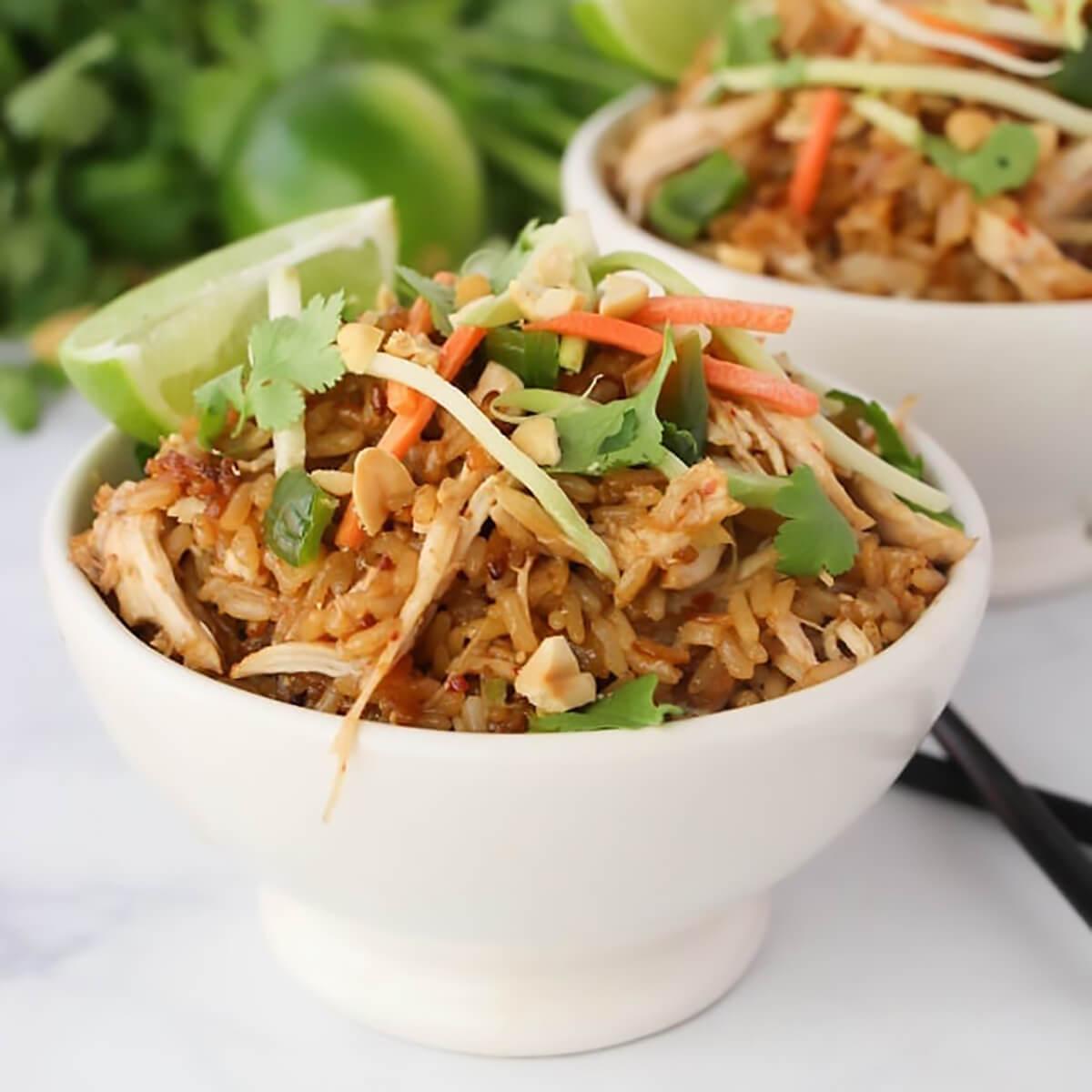 Thai Chicken Rice Bowls