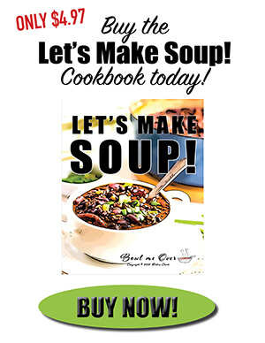 Photo selling Let's Make Soup ebook with link to click