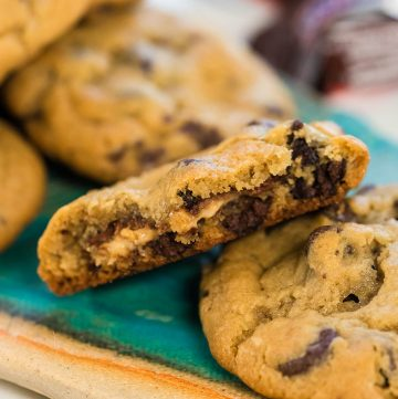 Platter of Snickers Chocolate Chip Cookies