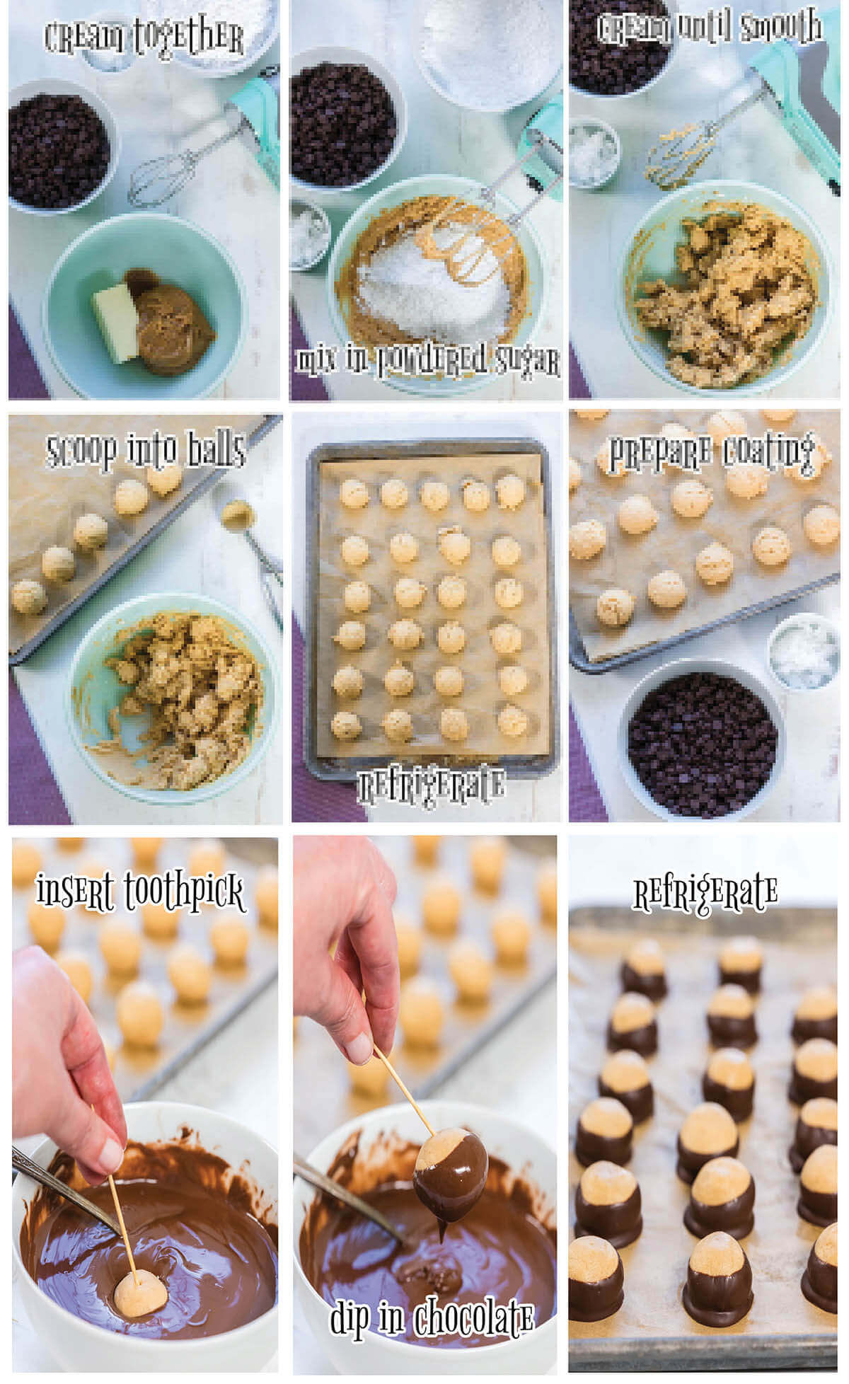 Step by step instructions showing how to make recipe