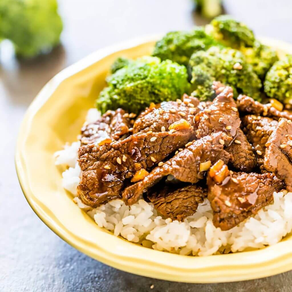 Beef Broccoli over rice.
