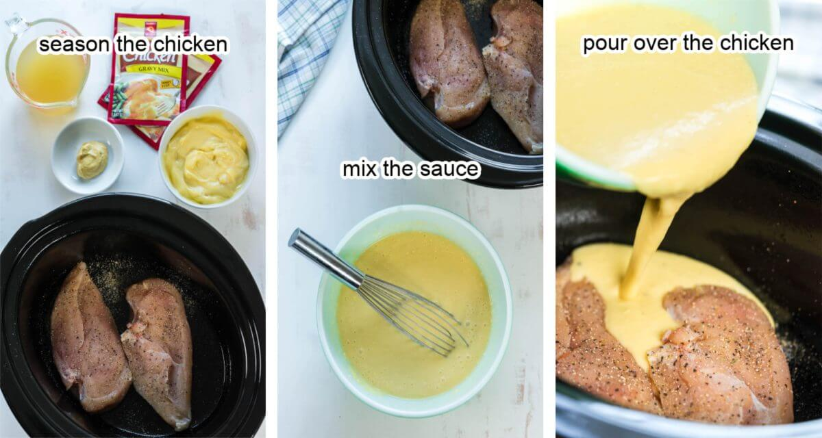 Step by step instructions how to make this slow cooker meal.