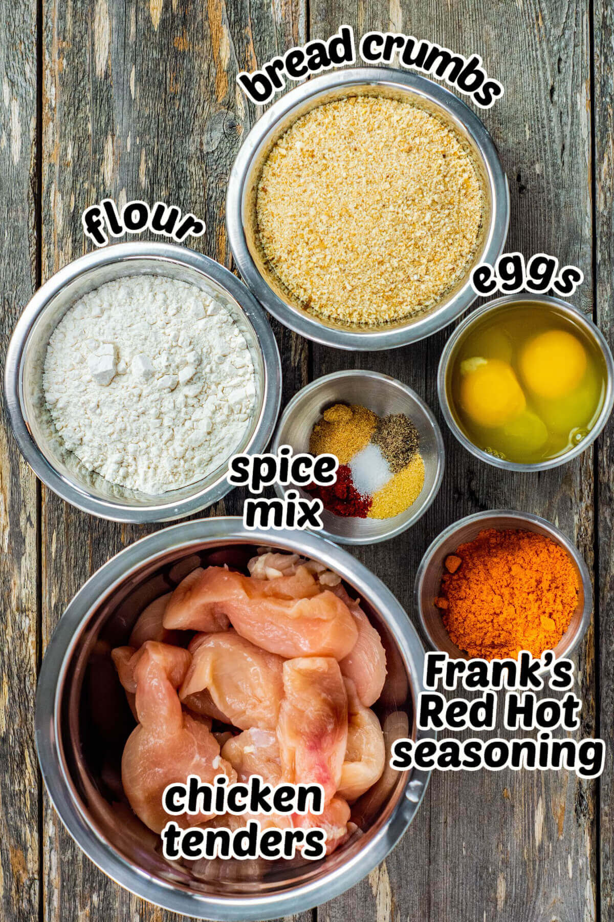 All of the ingredients needed to make recipe.