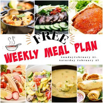 A photo collage of all the recipes includes in Week 8 Meal Plan.