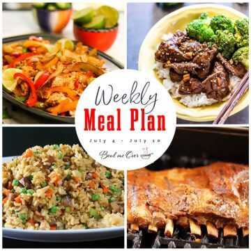Collage of photos for Weekly Meal Plan 25 with print overlay.