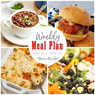 A collage of photos for Weekly Meal Plan 26 with print overlay.