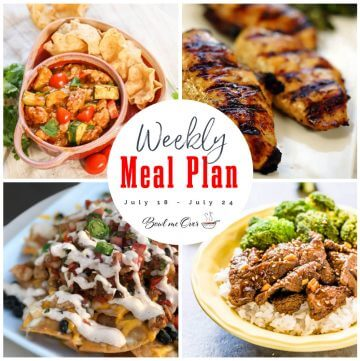 Collage of photos for Weekly Meal Plan 28 with print overlay.