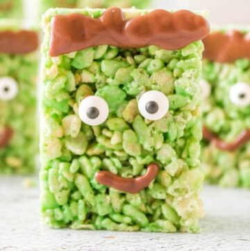 Halloween rice krispie treats.