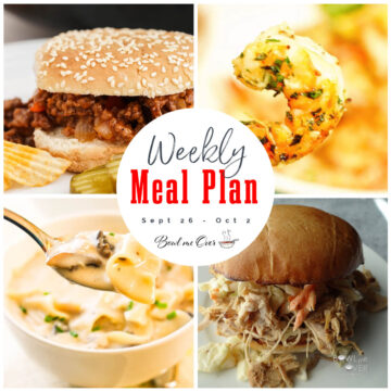 Collage of photos for Weekly Meal Plan 38 with print overlay.